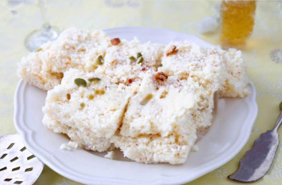 Coconut Barfi Recipes milk