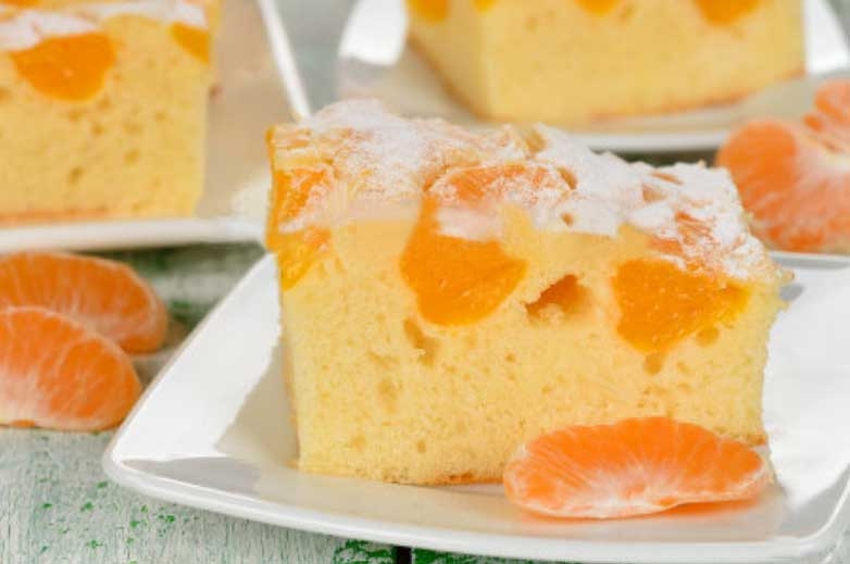 Mandarin Orange Cake With-Brown Sugar Glaze Easy