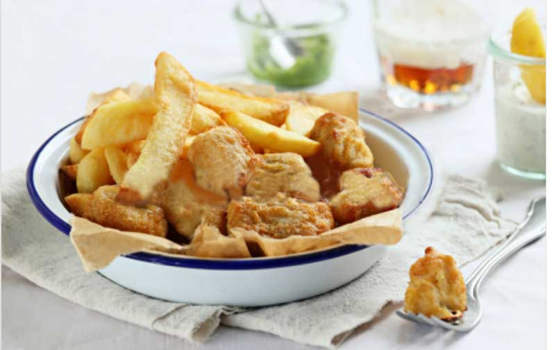 Oven Baked Fish and Chips-Recipes Potatoes