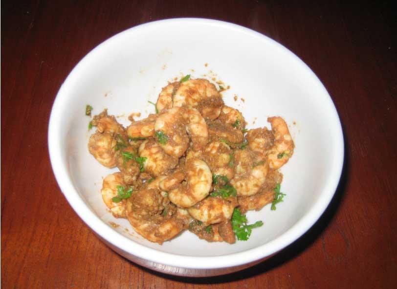 Spicy Prawns recipe Indian