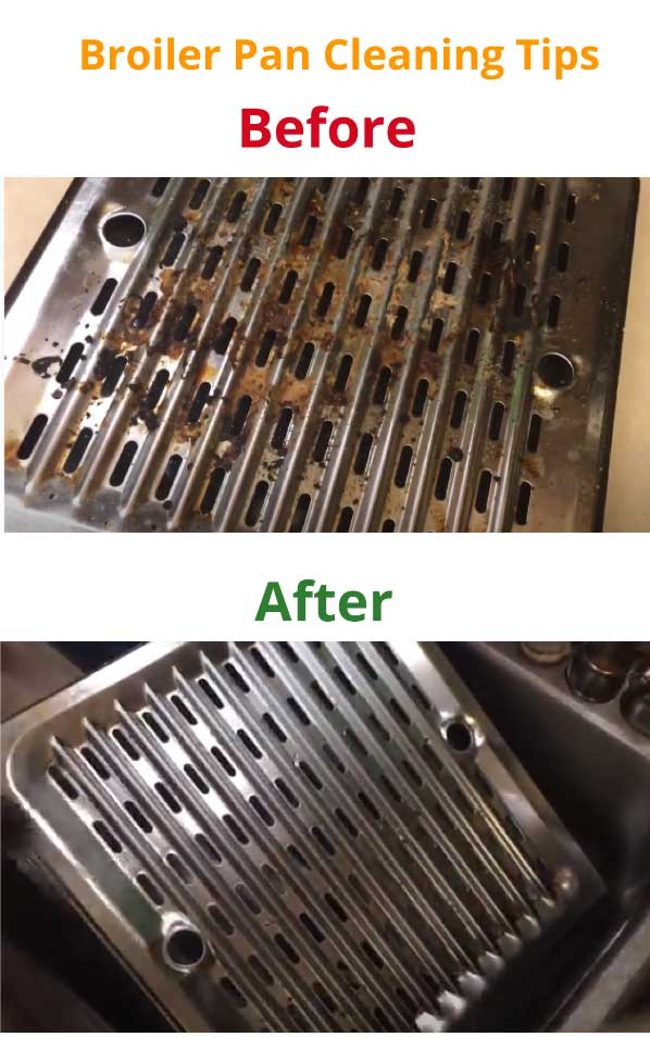 broiler pan cleaning tips