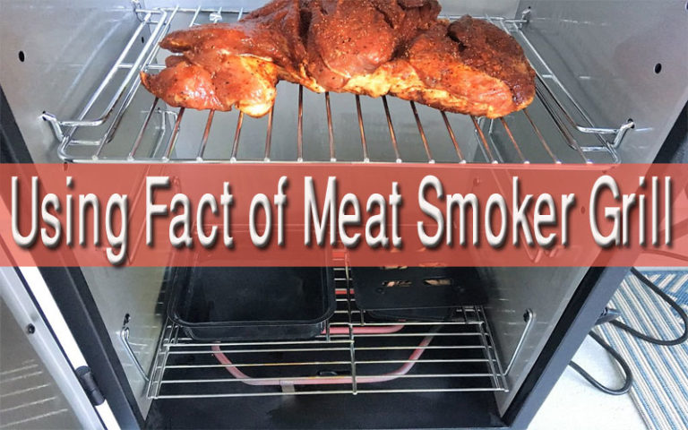 How to use meat smoker grill