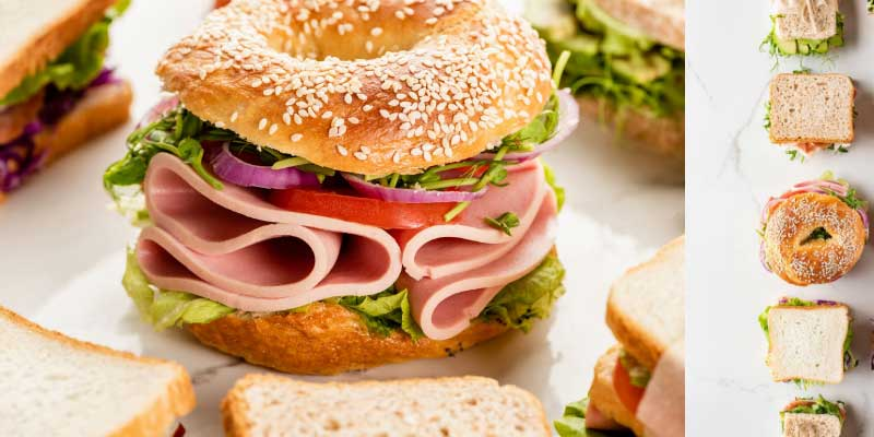 How to make bagel sandwich
